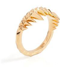 Kasun - Crocodile Bite Ring Gold - Lyst