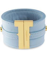 Tissuville - Bow & Cube Dusk Blue Bracelet Gold - Lyst