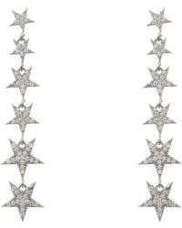 LÁTELITA London - Graduated Star Drop Earring Sterling Silver - Lyst