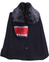 Ardent & Co - Contrasted Tweed Cape - Lyst