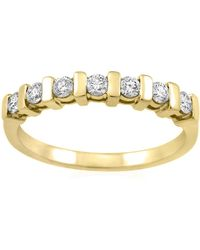 MONARC JEWELLERY - The Scala Stacker Ring 9ct Gold And White Sapphire - Lyst