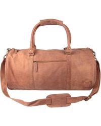MAHI - Leather Classic Duffle And Holdall In Vintage Cognac - Lyst