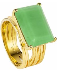 Neola - Pietra Gold Vermeil Cocktail Ring With Chrysoprase - Lyst