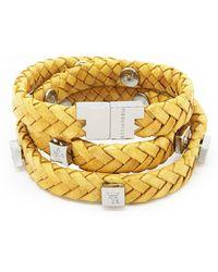 Tissuville - Brio Bracelet Mustard Silver - Lyst