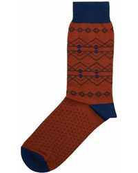 40 Colori - Rust Fair Isle Organic Cotton Socks - Lyst
