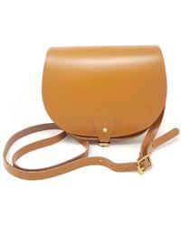 N'damus London - Leather Saddle Bag In Tan - Lyst