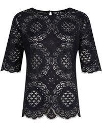 Jelena Bin Drai - Spanish Lace Top In Black - Lyst