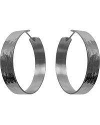 Dutch Basics - Medium Creole Earrings - Lyst