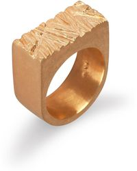 Edge Only | Rugged Ring In Gold | Lyst
