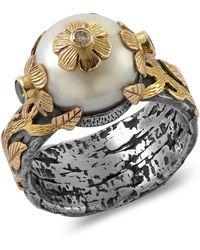 Emma Chapman Jewels - Marie Antoinette Pearl Diamond Ring - Lyst