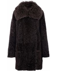 Gushlow and Cole - Storm Shearling Taper Coat - Lyst