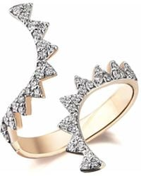 Sadekar Jewellery - Open Gear Ring With White Diamonds - Lyst
