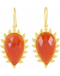 Meghna Jewels - Claw Carnelian Earrings - Lyst