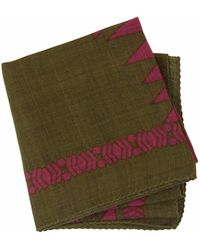 40 Colori - Military Green Aztec Printed Wool Bandana - Lyst