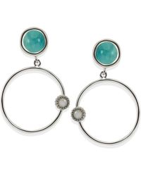 Vintouch Italy - Satellite Amazonite Hoop Earrings - Lyst