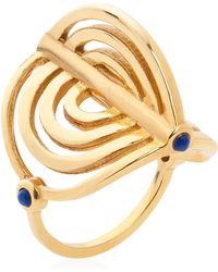 Lee Renee - Miami Circle Ring Gold - Lyst
