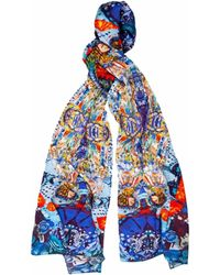 Jennifer Rothwell - Harry Clarke-inspired Two Figurative Ladies Print Scarf - Lyst