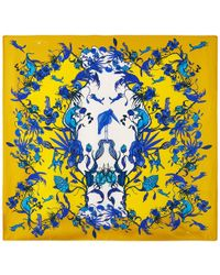 Klements - Square Scarf In Kangaroo Yellow Print - Lyst