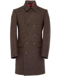 Osso London - Loxy British Wool Elongated Pea Coat - Lyst
