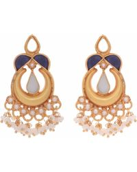 Carousel Jewels - Blue Lapis And Mother Of Pearl Earrings - Lyst