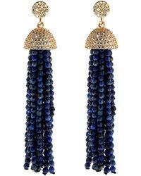 Cosanuova - Sterling Silver Lapis Tassel Earrings In Rose - Lyst