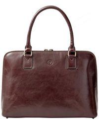 Maxwell Scott Bags - Luxury Italian Leather Women's Work Tote Bag Fiorella Chestnut Tan - Lyst