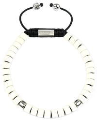 Clariste Jewelry - Men's Ceramic Bead Bracelet White & Silver - Lyst
