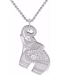 CarterGore - Silver Elephant Pendant Necklace - Lyst