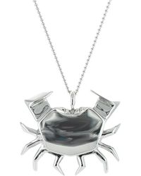 Origami Jewellery - Crab Necklace Sterling Silver - Lyst