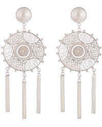 Vanilo - Pandora Silver Earrings - Lyst