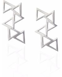 Sally Lane Jewellery - Ladder Of Life Silver Earrings - Lyst