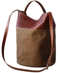 dorayaky - Uma Brown Waxed Canvas Bag - Lyst