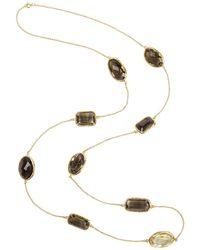 LÁTELITA London - 3d Mixed Stone Necklace Gold Smokey Quartz Hydro - Lyst
