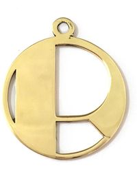 Alice Eden - Gold Deco Initial R Pendant Necklace - Lyst