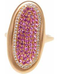 Ri Noor - Pink Sapphire Diamond Ring - Lyst