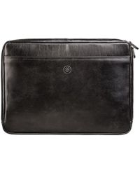 Maxwell Scott Bags | Luxury Black 14 Leather Laptop Case The Bovino | Lyst