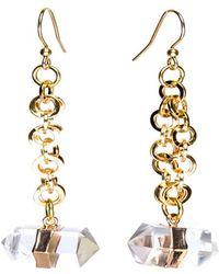 Tiana Jewel - Goddess Clear Quartz Earrings - Lyst