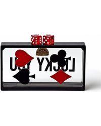 Yoanny García - Card Clutch With Red Dice Clasp - Lyst