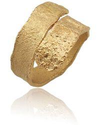 Karolina Bik Jewellery - Algae Ring Gold - Lyst