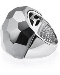Ona Chan Jewelry - Lattice Round Cocktail Ring Hematite - Lyst