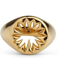 Kasun - Wild Crocodile Signet Ring Gold - Lyst