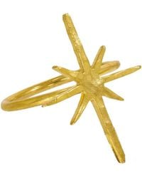 Ottoman Hands - Gold Star Stacking Ring - Lyst