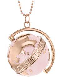 True Rocks - Medium Globe Necklace Rose Gold & Blush Enamel - Lyst