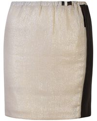 Claire Andrew - Sequin & Leather Skirt - Lyst