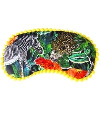 Jessica Russell Flint - Jungle Jungle Pom Pom Trim Silk Eye Mask With Gift Box - Lyst