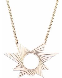 Mademoiselle Felee - Barcelona Engraved Star Estrella Necklace Gold - Lyst