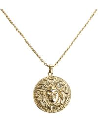 Serge Denimes - Gold Medusa Pendant Necklace - Lyst