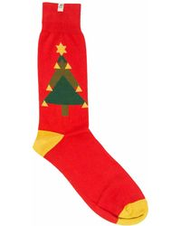 40 Colori - Red Christmas Tree Organic Cotton Socks - Lyst