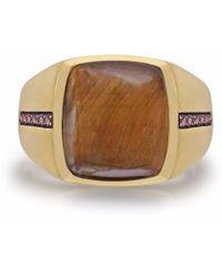 LMJ - Chatoyant Yellow Tiger Eye Stone Ring - Lyst