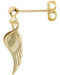 CarterGore - Gold Wing Single Short Drop Earring - Lyst